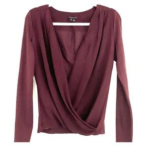 Theory Plunging V Neck Top